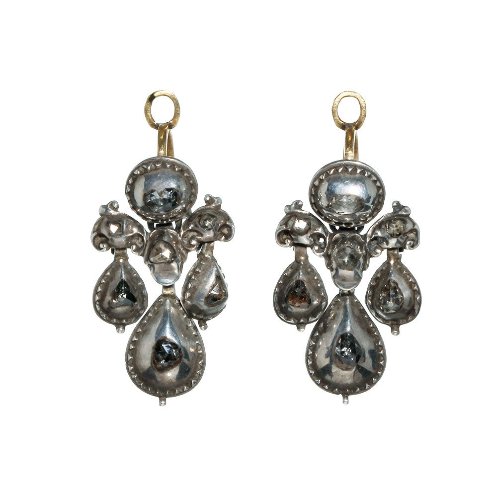 18th Century Rose Cut Diamond Earrings