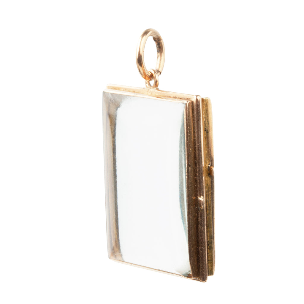 Victorian Era Rectangular Crystal Locket