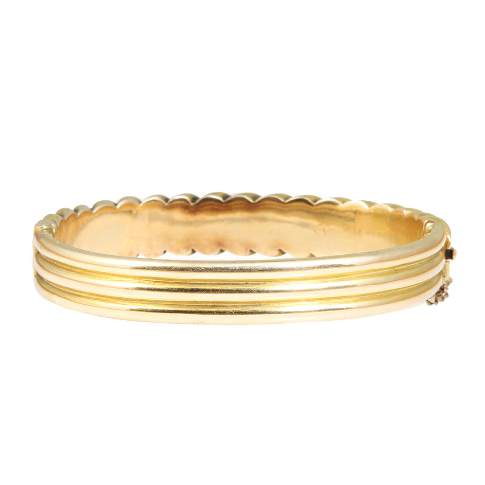 Victorian Gold Illusion Bangle