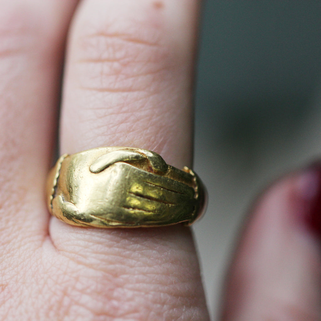 18th Century Gold Fede Ring