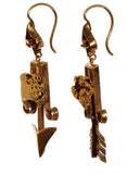 1860's Gold Rush Earrings