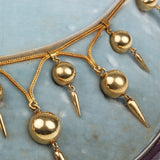 19th Century French Gold Dagger Necklace Set