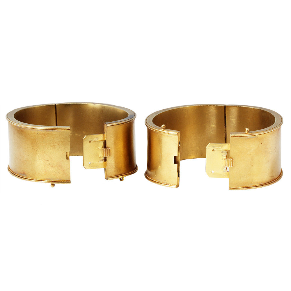 Victorian Matched Set Gold Bangles