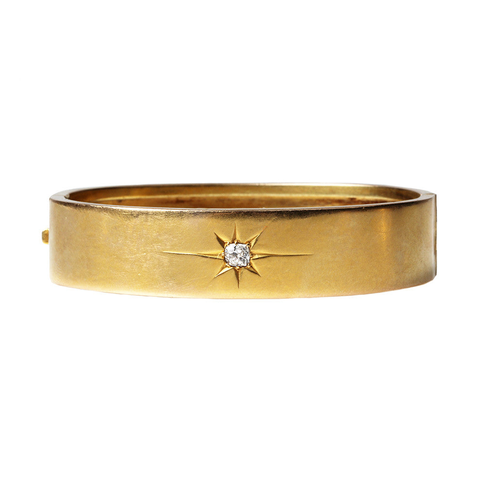 Victorian Gold Diamond Bangle