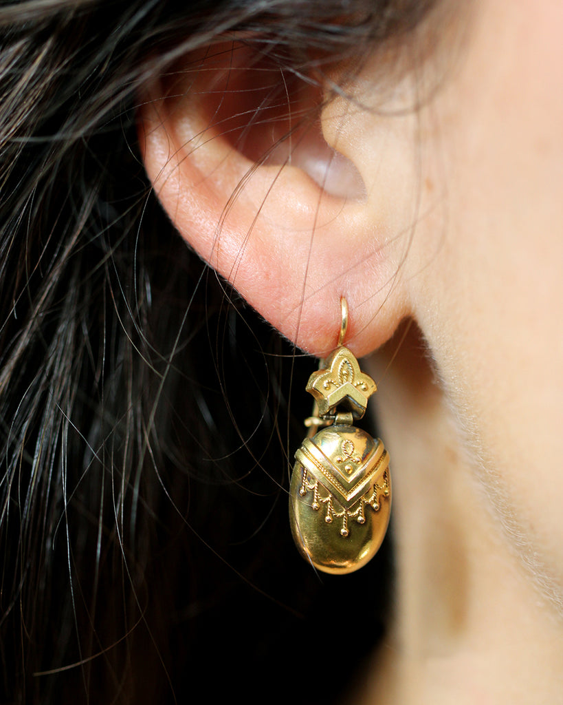 19th Century Gold Earrings