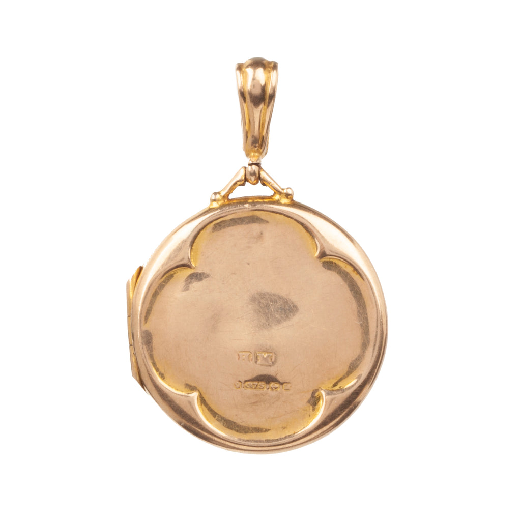 Victorian Era Quatrefoil Gold Locket