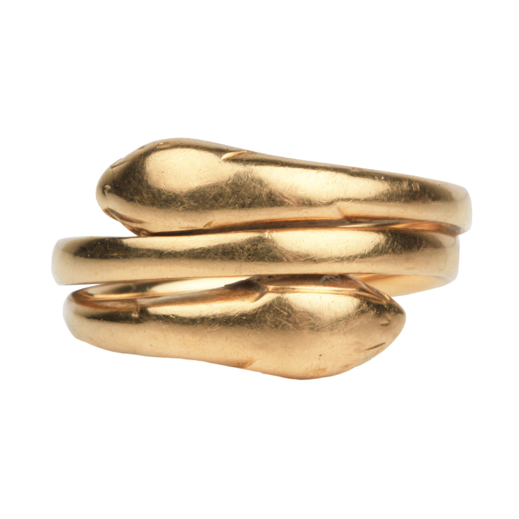 Victorian Era Gold Double Snake Ring