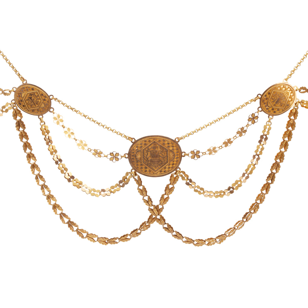 Early 19th Century French Empire Gold Necklace