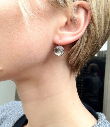 Georgian Gray Paste Earrings