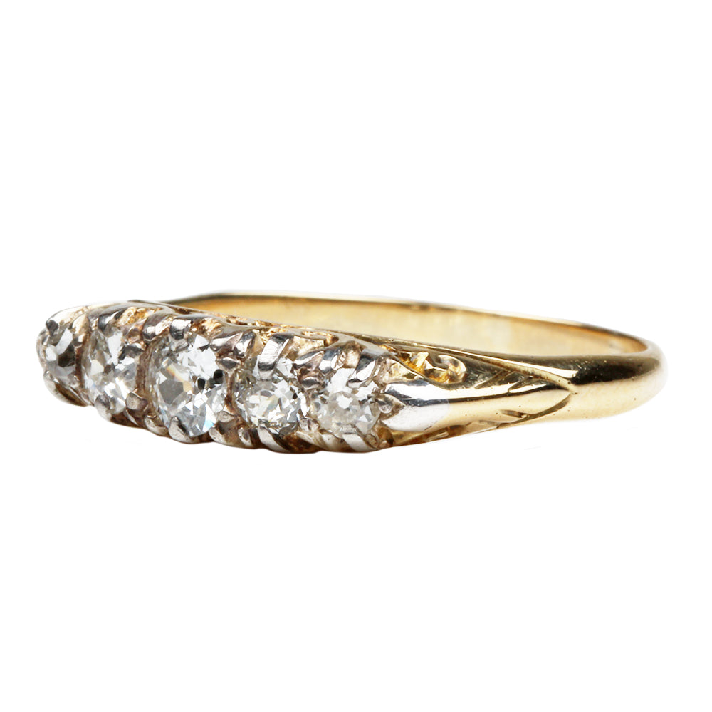 Victorian Five Stone Diamond Ring
