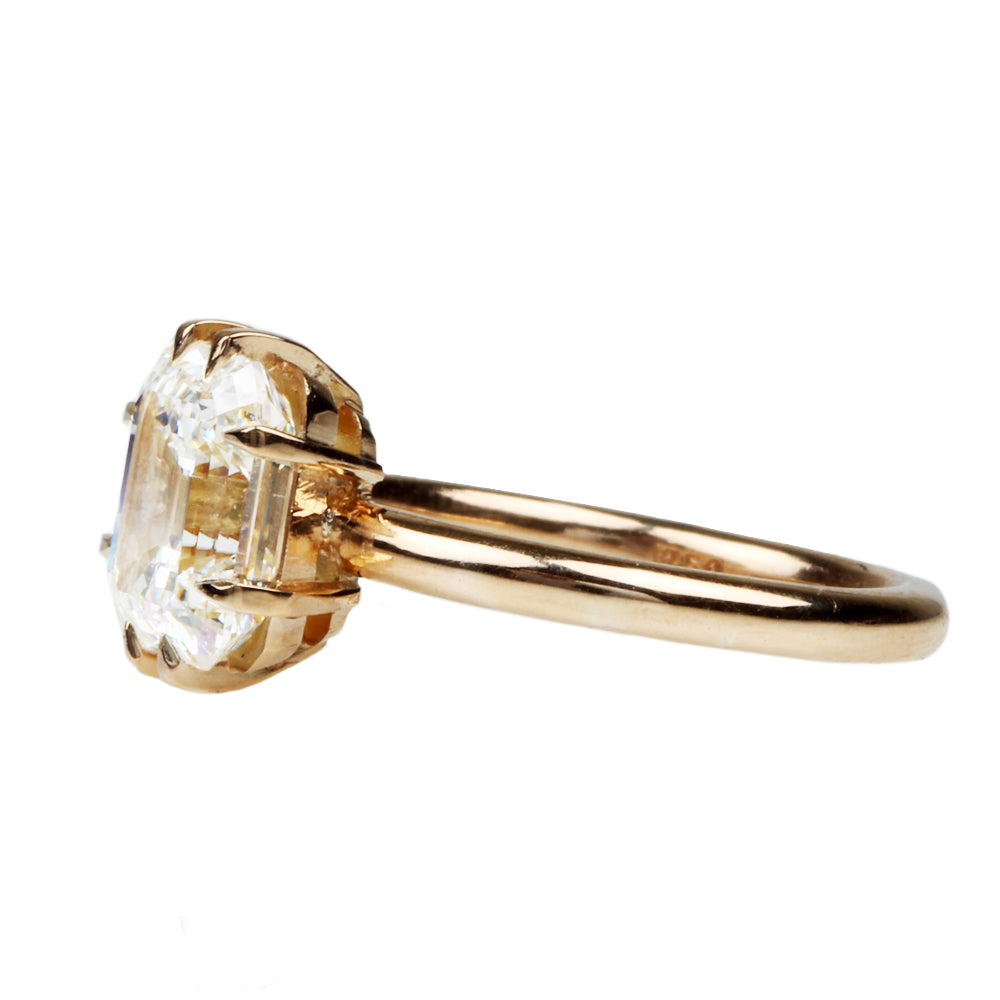 Bell and Bird 2.55ct Emearld Cut Diamond Ring