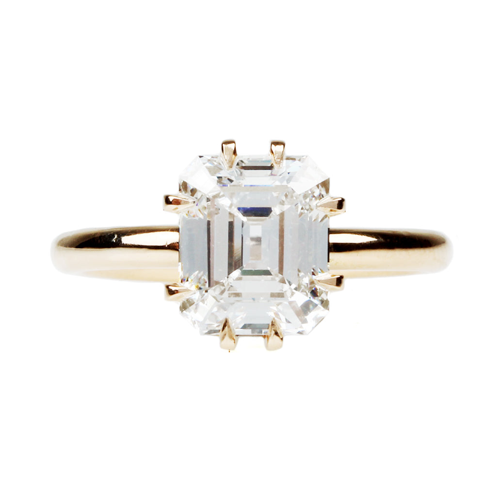 Emerald Cut Diamond Eight Prong Solitaire