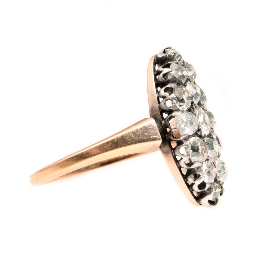 Victorian Navette Shape Diamond Ring