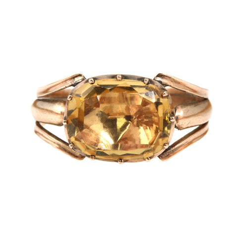 Georgian Era Citrine Ring