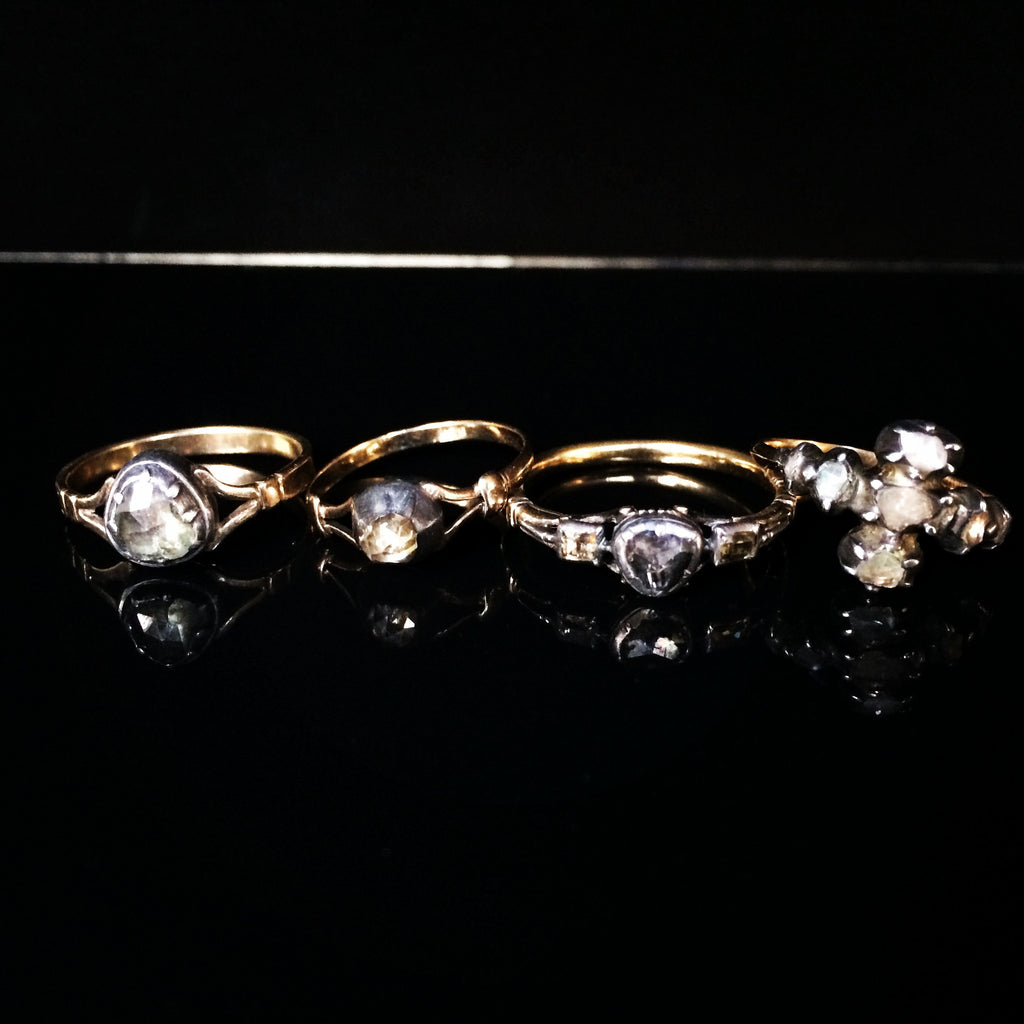 Georgian Rose Cut Diamond Five-Stone Ring