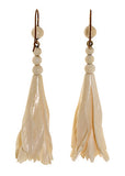 Carved Ivory Fuchsia Earrings