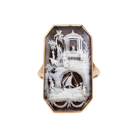 Georgian Carved Scene Ring
