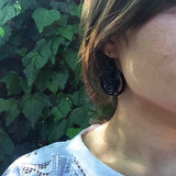 Victorian Carved Jet Earrings