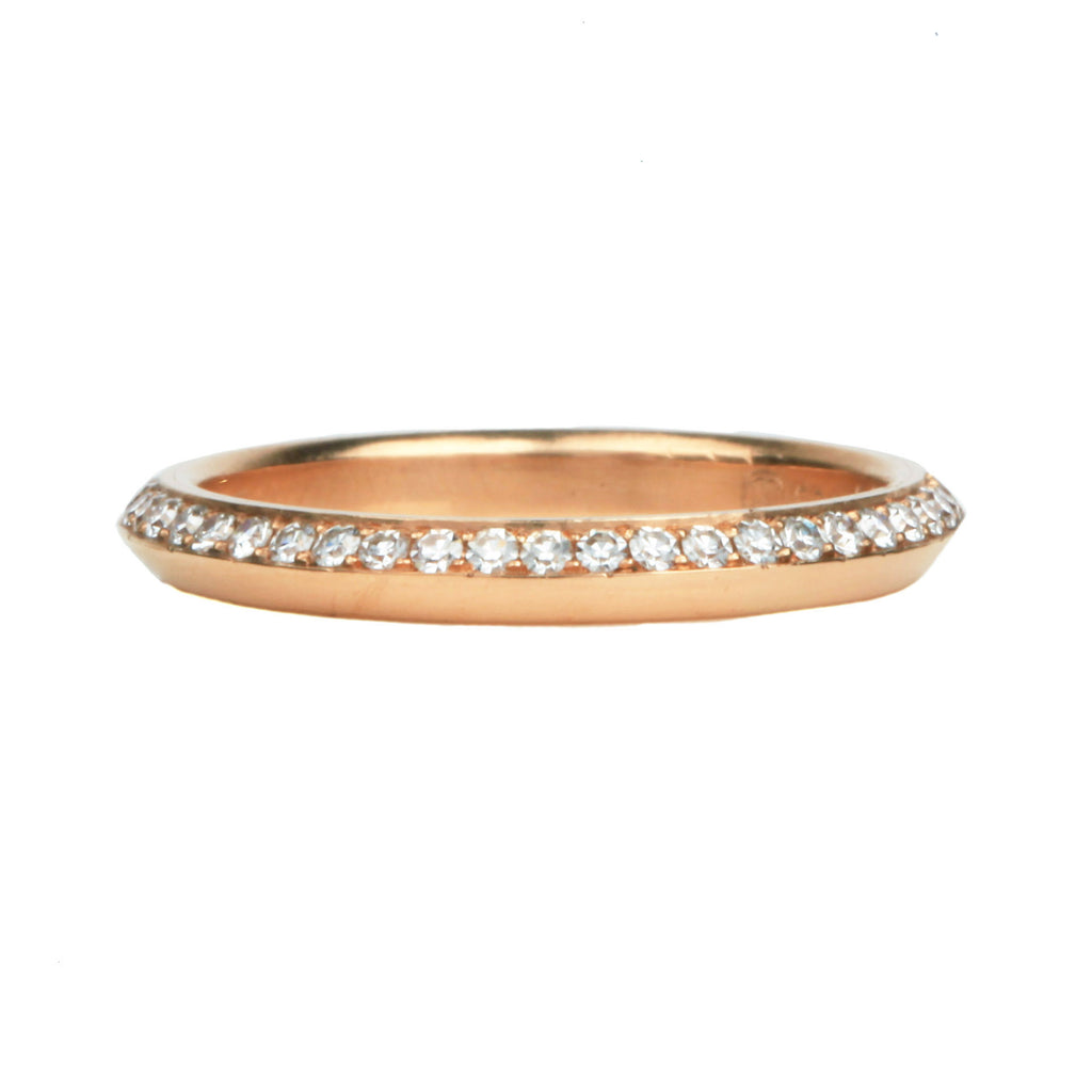Knife Edge Diamond Eternity Band