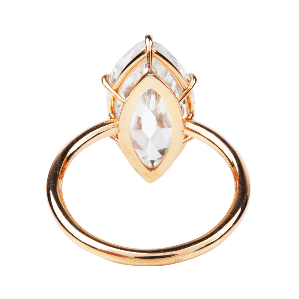 Antique Marquise Cut Diamond Ring in Travel Mount Setting