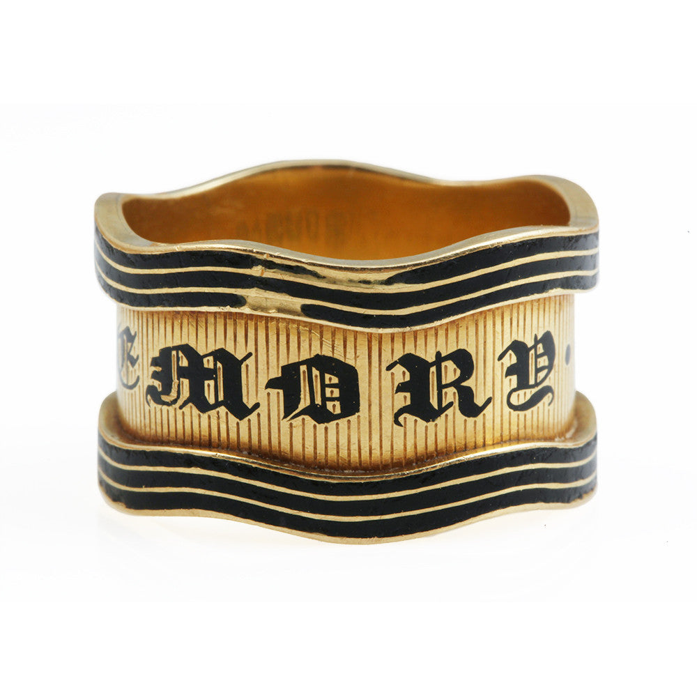 Black Enamel Mourning Ring