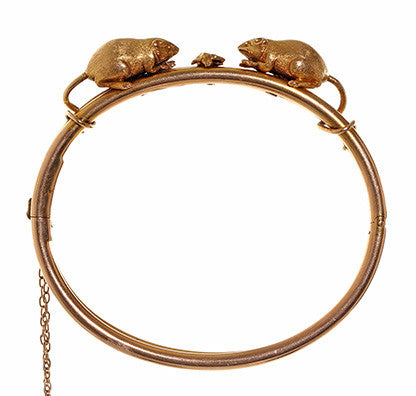 Victorian Thornhill Mouse Bangle