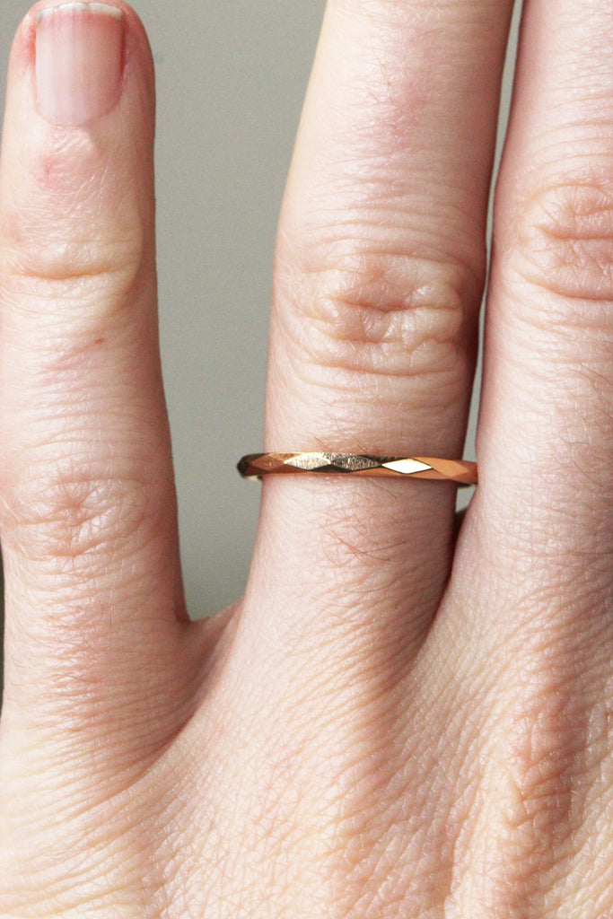 Faceted Gold Band