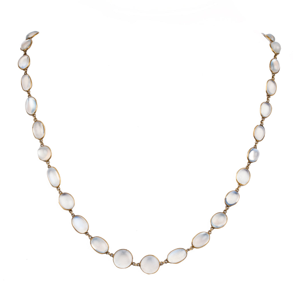Art Deco Era Moonstone Necklace