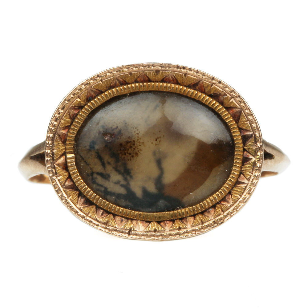 Late 18th Century Moss Agate Ring