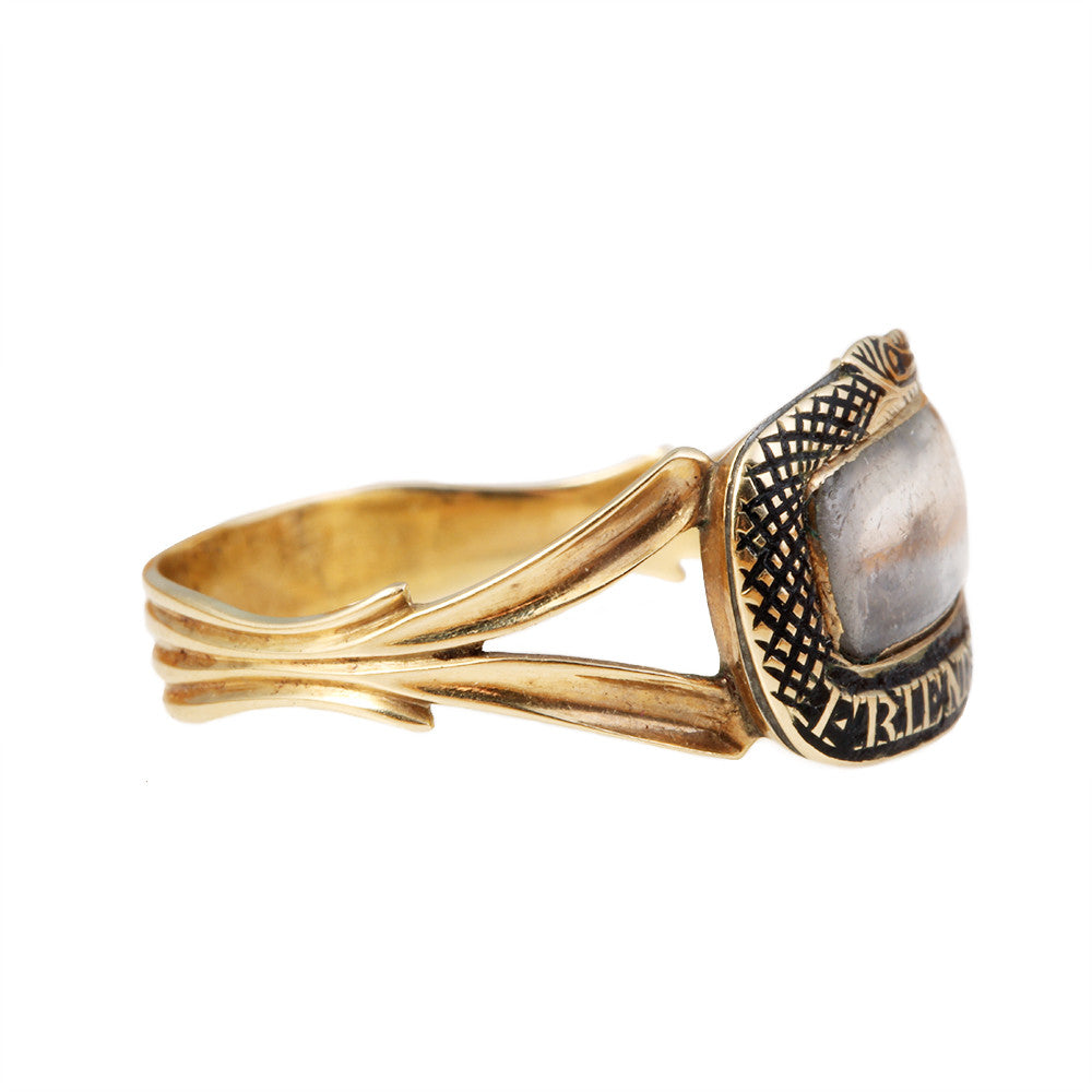 Georgian Snake Mourning Ring