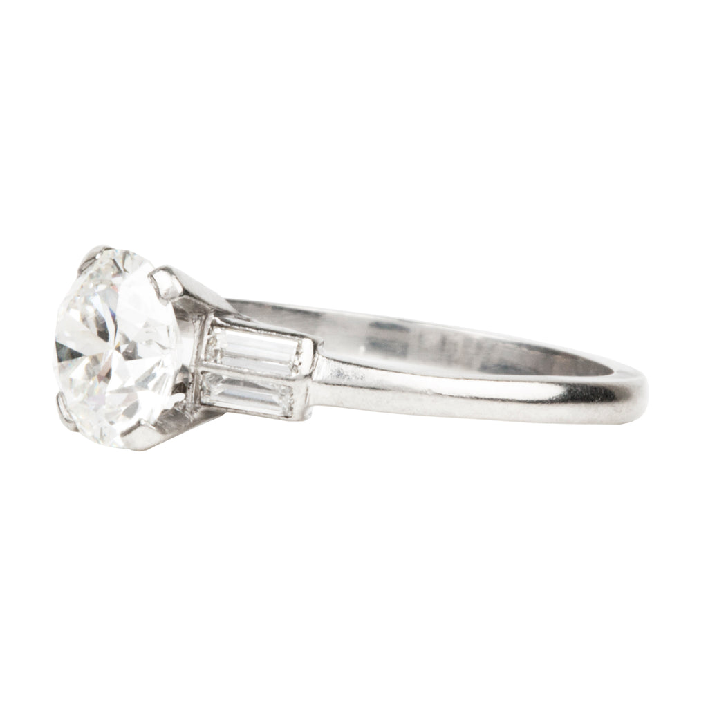 Art Deco Era Old European Cut Diamond Ring