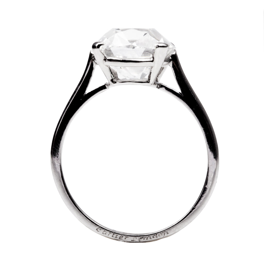 Fine Early 20th Century Old Mine Cut Diamond Ring by Cartier