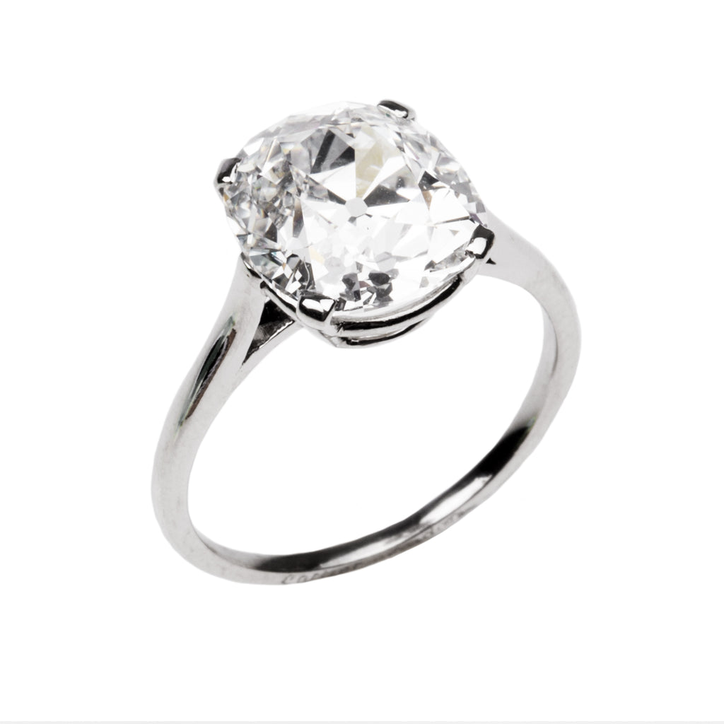 Fine Early 20th Century 4.29 Carat Old Mine Cut Diamond Ring by Cartier