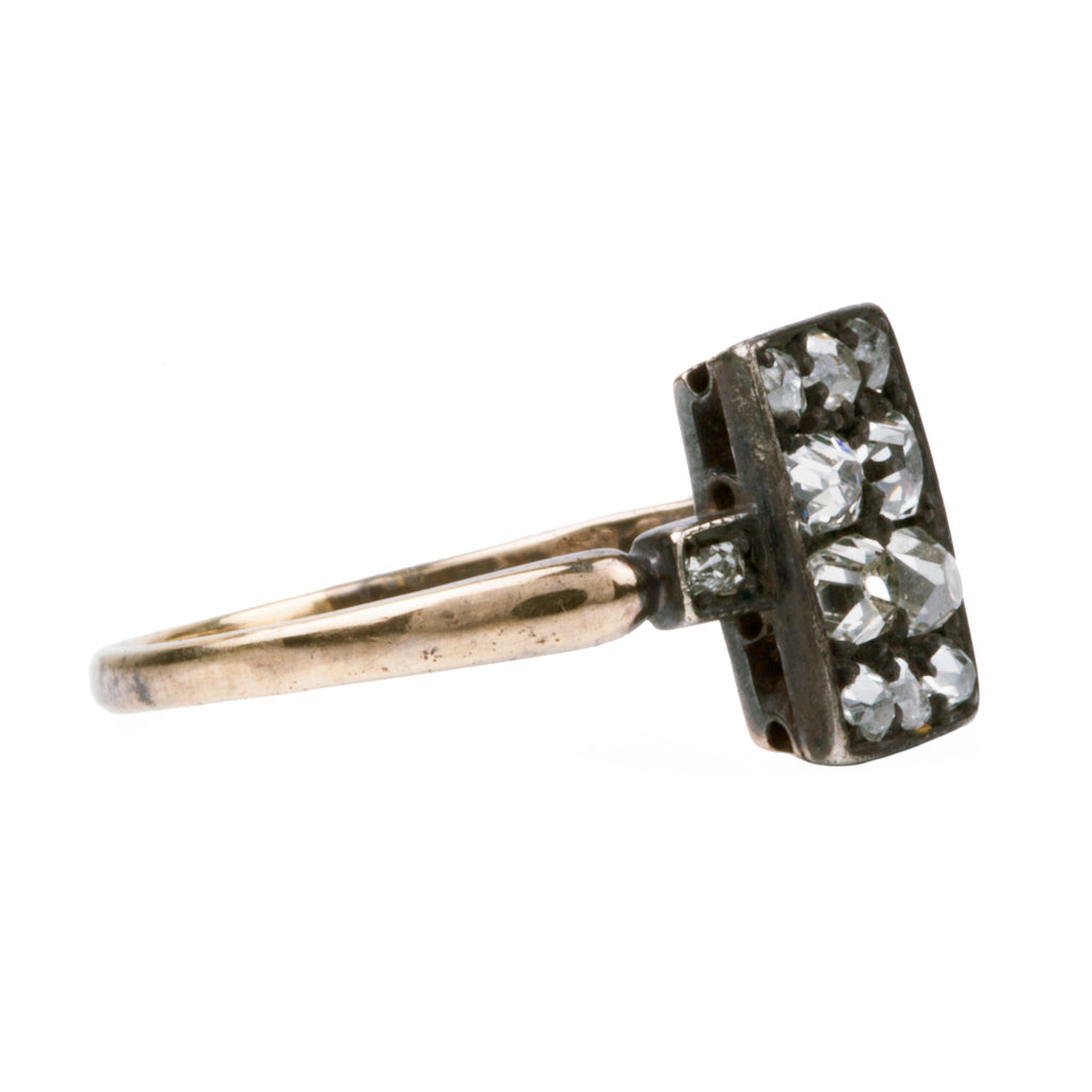 19th Century Old Mine Cut Diamond 10-stone Ring