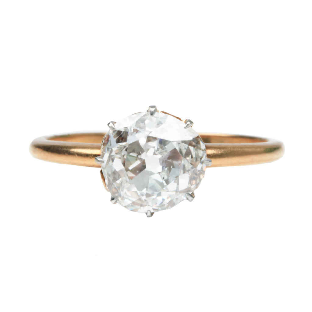 19th Century Old Mine Cut Diamond Ring