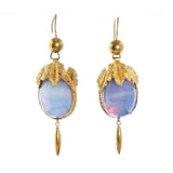 Victorian Opaline Glass Earrings