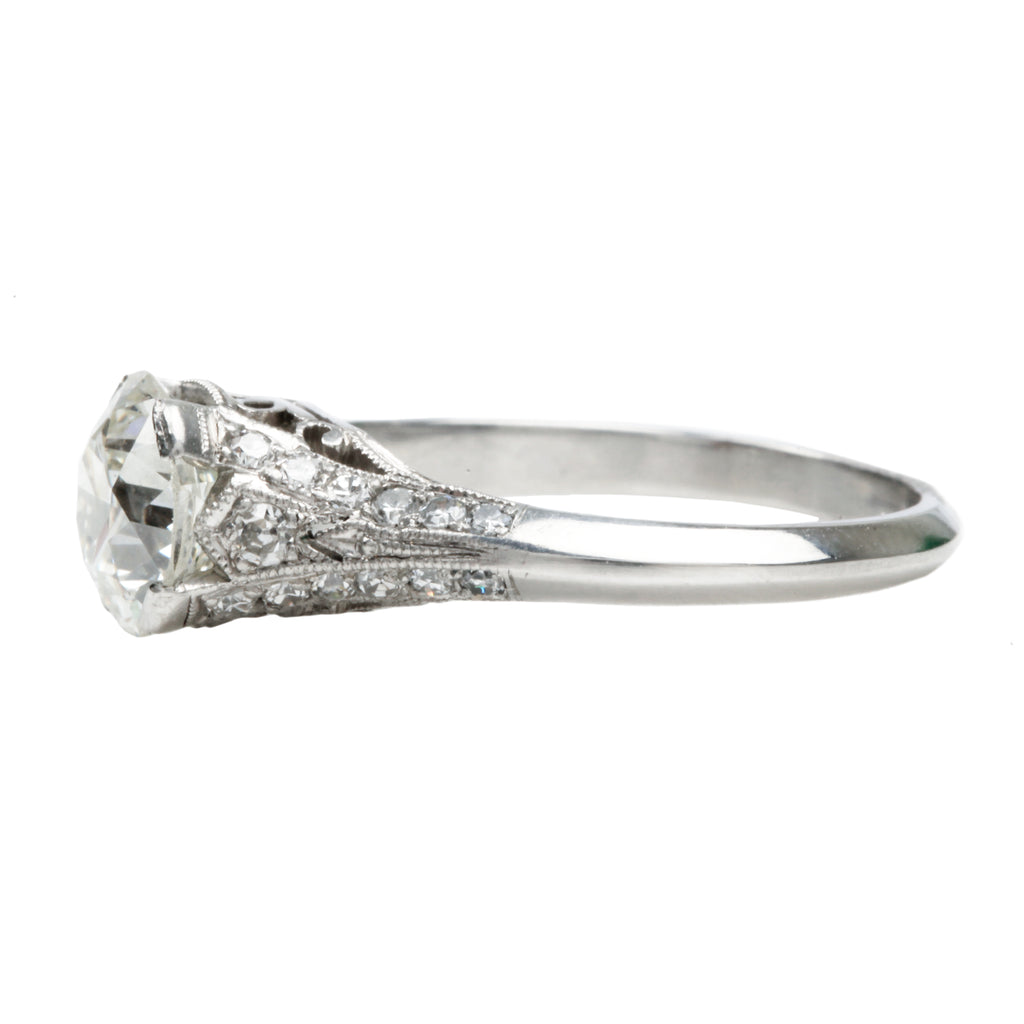 Early 20th Century Platinum Diamond Ring
