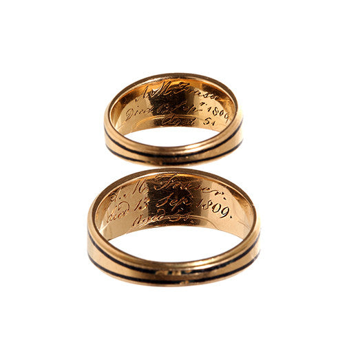 Matched Pair of Georgian Mourning Rings