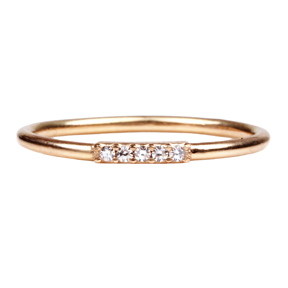 Pave Five Diamond Band