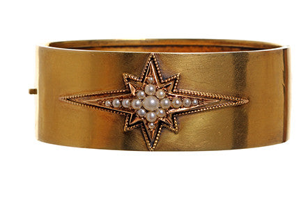 Victorian Pearl Starburst Bangle