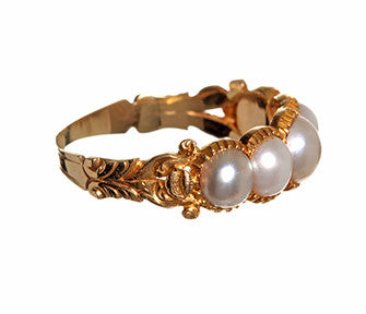 Pearl Band with Cut-Away Setting
