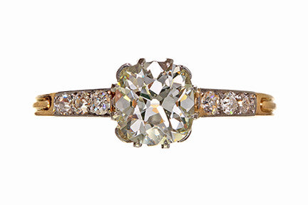 Edwardian Cushion Cut Diamond Ring