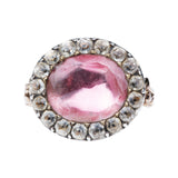 Georgian Era Pink Paste Ring