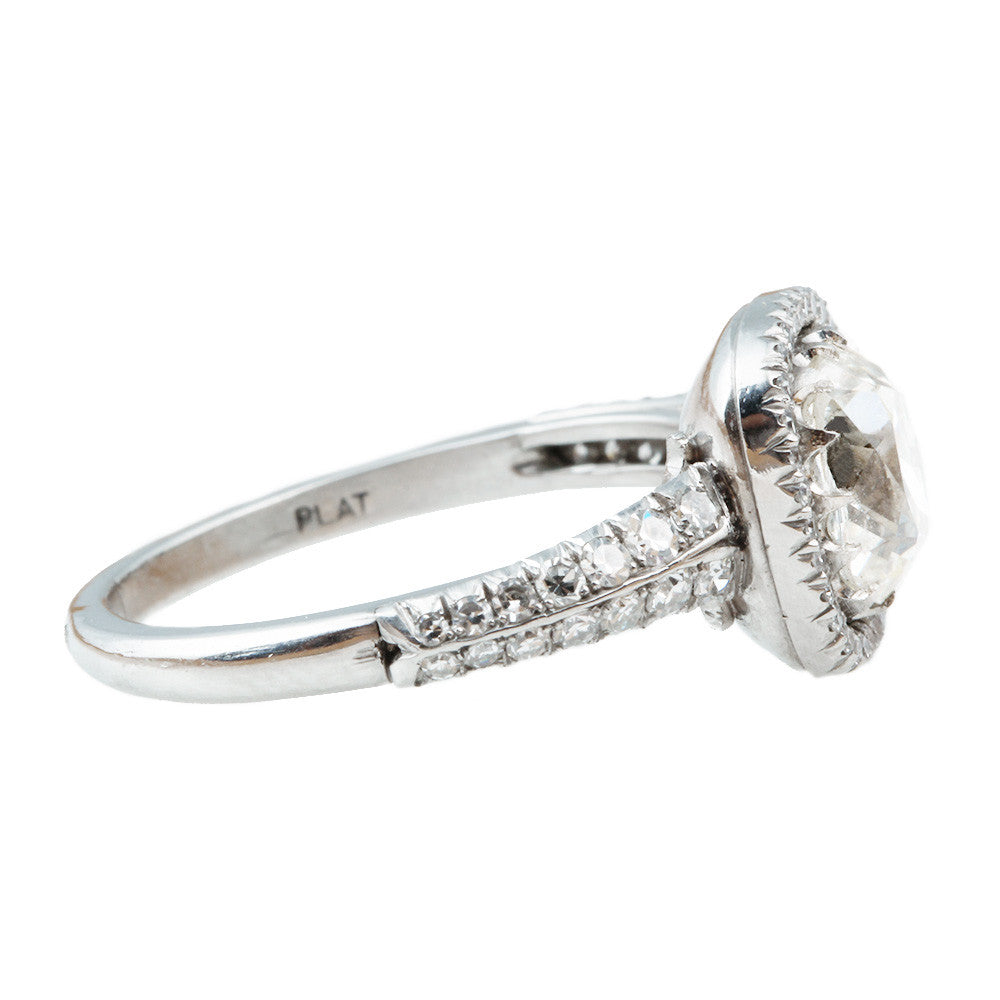 Split Shank Old Mine Cut Diamond Ring