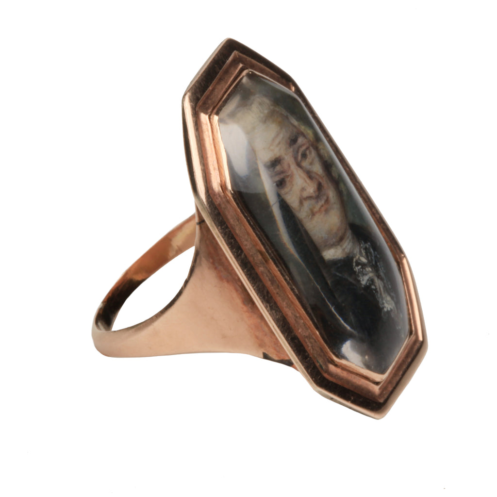 Georgian Era Portait Miniature Ring
