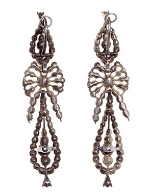 Portuguese Paste Pendeloque Earrings