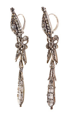 Late 18th Century Portuguese Paste Pendeloque Earrings