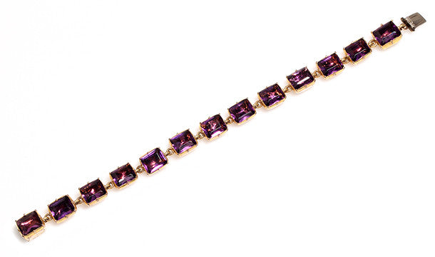Georgian Gilt Amethyst Paste Bracelet
