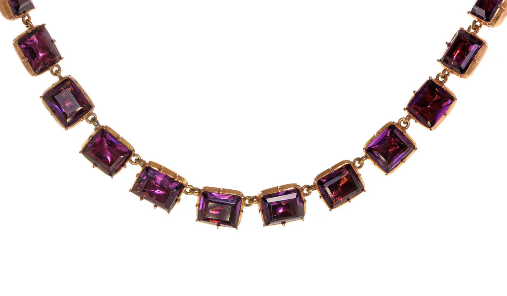 Georgian Purple Paste Necklace
