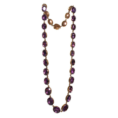 Georgian Amethyst Paste Necklace